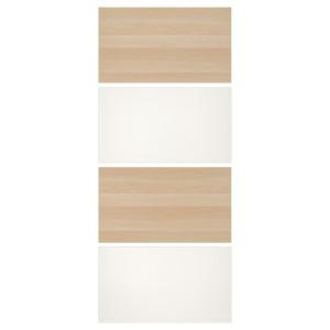 МЕХАМН 4 панели д/рамы раздвижной дверцы, под беленый дуб, белый