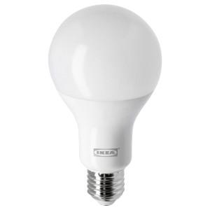 ЛЕДАРЕ Светодиод E27 1521 лм, регулируемая яркость, теплый, шарообразный молочный