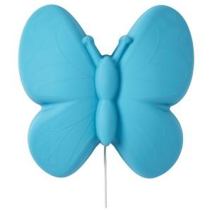 УППЛИСТ Бра, светодиодный, бабочка голубой