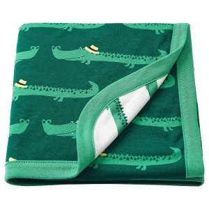 РЁРАНДЕ Одеяло детское, крокодил, зеленый