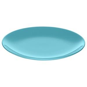 ФЭРГРИК Тарелка десертная, каменная керамика, бирюзовый