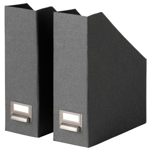 ЧУГ Подставка для журналов, темно-серый, 2шт