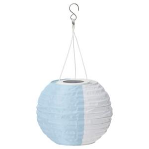 СОЛВИДЕН Подвесная светодиодная лампа, белый синий, для сада шаровидный