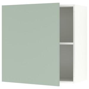 КНОКСХУЛЬТ Навесной шкаф с дверцей, серо-зеленый