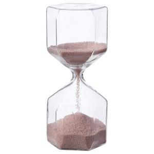 ТИЛЛСЮН Декоративные песочные часы, прозрачное стекло, светло-розовый