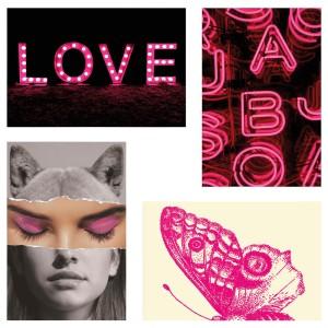 ЮЛЛЕВАД Открытка, love pink, 4шт