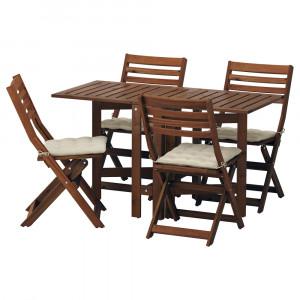 ЭПЛАРО Стол+4 складных стула, д/сада