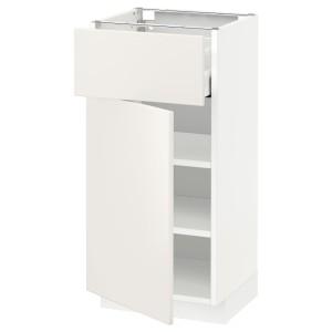 МЕТОД / МАКСИМЕРА Напольный шкаф с ящиком/дверью, белый, Веддинге белый
