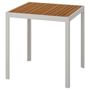 ШЭЛЛАНД Садовый стол, светло-коричневый, светло-серый