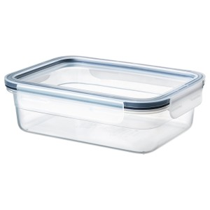 ИКЕА/365+ Контейнер для продуктов с крышкой, прямоугольн формы, пластик