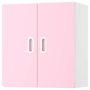СТУВА / ФРИТИДС Навесной шкаф, белый, светло-розовый