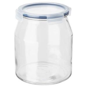 ИКЕА/365+ Банка с крышкой, стекло, пластик