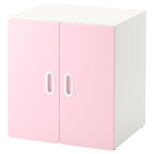 СТУВА / ФРИТИДС Шкаф, белый, светло-розовый