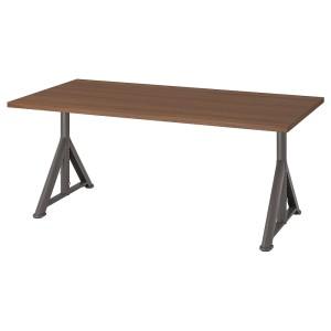 ИДОСЕН Письменный стол, коричневый, темно-серый