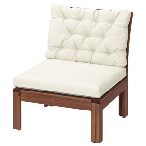 ЭПЛАРО Садовое легкое кресло, коричневая морилка, Куддарна бежевый