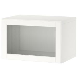 БЕСТО Комбинация настенных шкафов, белый, оствик белый/прозрачное стекло