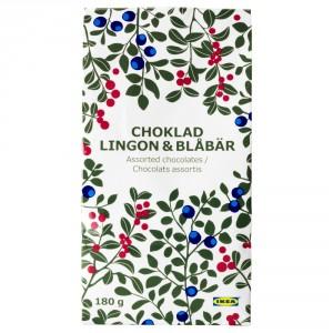 CHOKLAD LINGON & BLÅBÄR Конфеты с брусничн/черничн начинкой