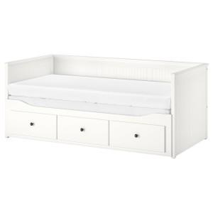 ХЕМНЭС Каркас кровати-кушетки с 3 ящиками, белый