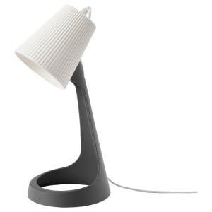 СВАЛЛЕТ Лампа рабочая, темно-серый, белый