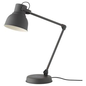 ХЕКТАР Лампа/устройств д/беспровод зарядки, темно-серый