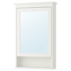 ХЕМНЭС Зеркальный шкаф с 1 дверцей, белый