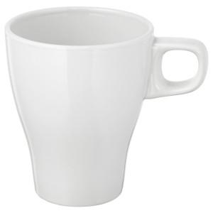 ФЭРГРИК Кружка, каменная керамика белый