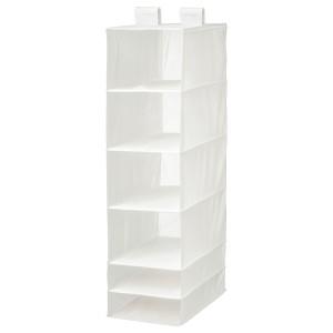 СКУББ Модуль для хранения с 6 отделениями, белый