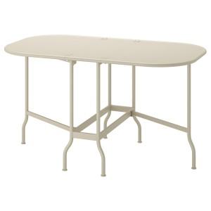 САЛЬТХОЛЬМЕН Складной стол, садовый, бежевый