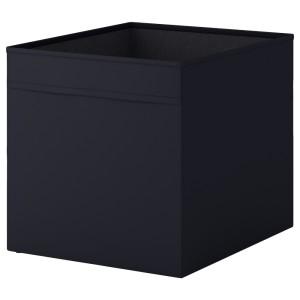 ДРЁНА Коробка, черный, 1шт