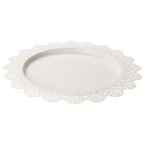 СКУРАР Тарелка для свечи, белый