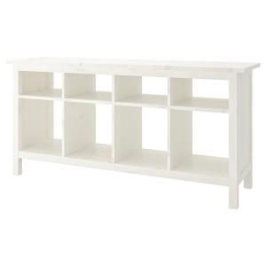 ХЕМНЭС Консольный стол, белая морилка
