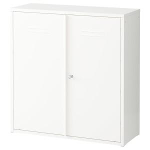 ИВАР Шкаф с дверями, белый