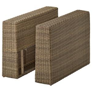 СОЛЛЕРОН Подлокотник для садовой мебели, коричневый, 2шт