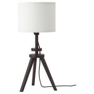 ЛАУТЕРС Лампа настольная, коричневый ясень, белый
