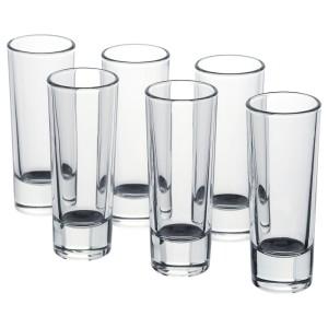 ГРОСЕЙ Стопка, прозрачное стекло, 6шт
