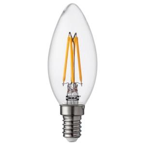 РИЭТ Светодиод E14 260 лм, свечеобразный, прозрачный