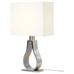 КЛАБ Лампа настольная, белый с оттенком, никелированный