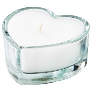 ВИНТЕРФЕСТ Неароматич свеча в стекл подсвечн, сердце, прозрачное стекло