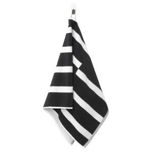 КИННЕН Полотенце, черный/белый