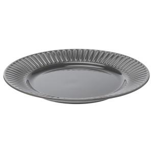 СТРИММИГ Тарелка, каменная керамика серый
