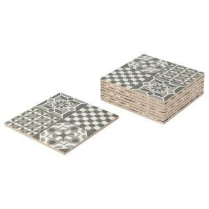 МЭЛЛЬСТЕН Плитка для улицы, серый/белый, 0.81м²