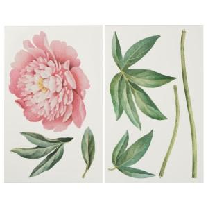 КИННАРЕД Декоративные наклейки, Розовый пион