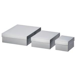 ВИНТЕР 2019 Коробка подарочная,3 штуки, серебристый