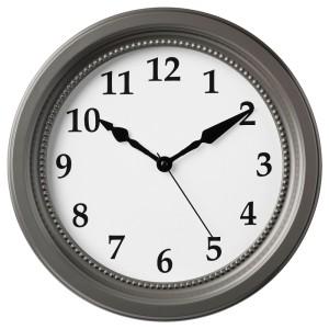 СЁНДРУМ Настенные часы, серый