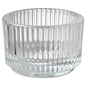 Подсвечник для греющей свечи, прозрачное стекло