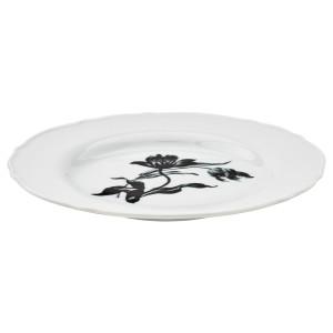 УППЛАГА Тарелка десертная, белый, с рисунком