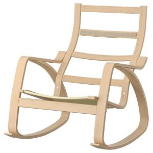 ПОЭНГ Каркас кресла-качалки, дубовый шпон, беленый