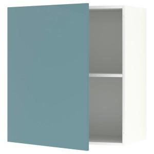 КНОКСХУЛЬТ Навесной шкаф с дверцей, глянцевый, синяя бирюза