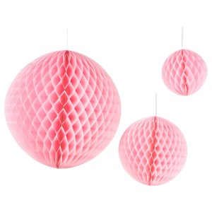 ИНБЬЮДЕН Подвесные украшения, 3 предм., шар розовый