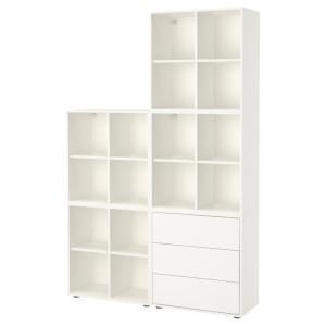 ЭКЕТ Комбинация шкафов с ножками, белый